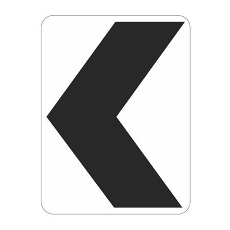 Chevron (White/Black) Sign  18 x 24
