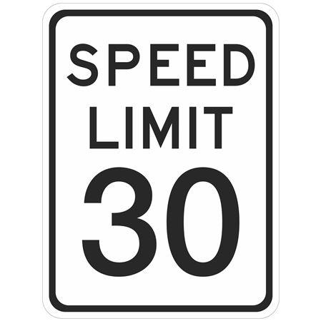 Speed Limit 30 -  18 x 24