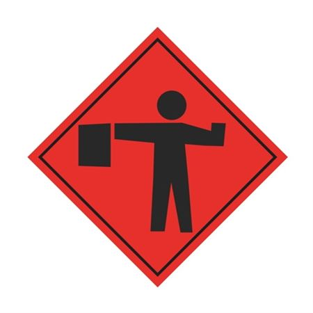 Flagger (Graphic) Sign