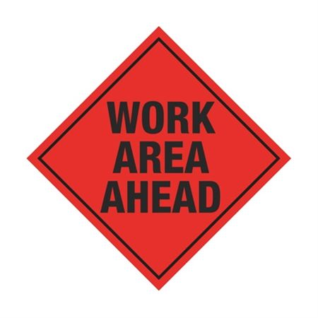 Work Area Ahead Sign