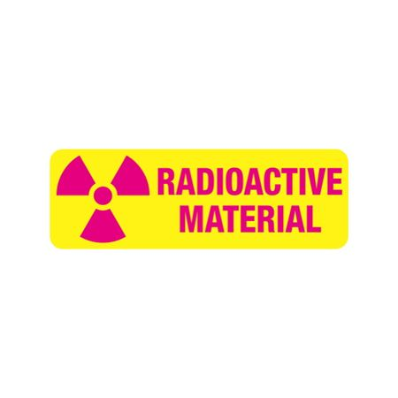 Radiation Markings - Radioactive Material-Paperstock (500/roll) 1 x 3