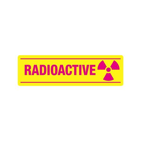 Radiation Markings - Radioactive-Vinyl w/Adhesive (1/pk) 3.5 x 12