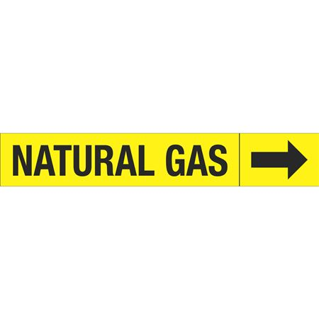 Roll Style Pipe Markers - NATURAL GAS