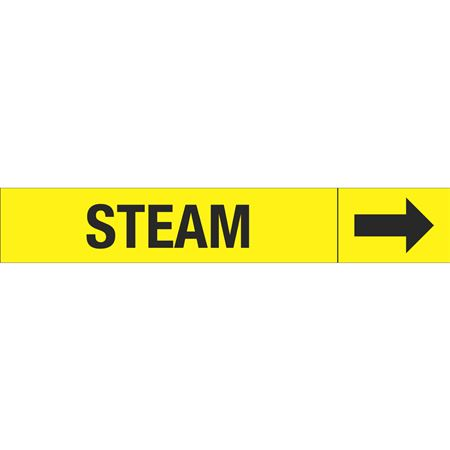 Roll Style Pipe Markers - STEAM