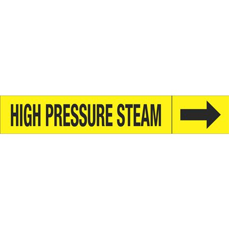 Roll Style Pipe Markers - HIGH PRESSURE STEAM