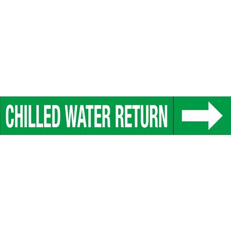 Roll Style Pipe Markers - CHILLED WATER RETURN
