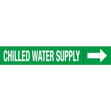 Roll Style Pipe Markers - CHILLED WATER SUPPLY
