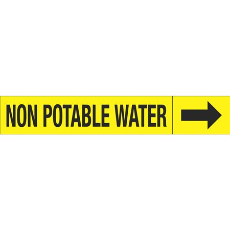 Roll Style Pipe Markers - NONPOTABLE WATER