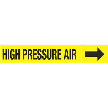 Roll Style Pipe Markers - HIGH PRESSURE  AIR