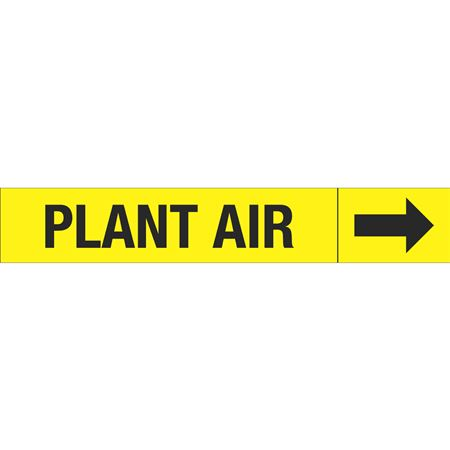 Roll Style Pipe Markers - PLANT AIR