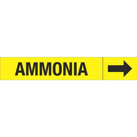 Roll Style Pipe Markers - AMMONIA