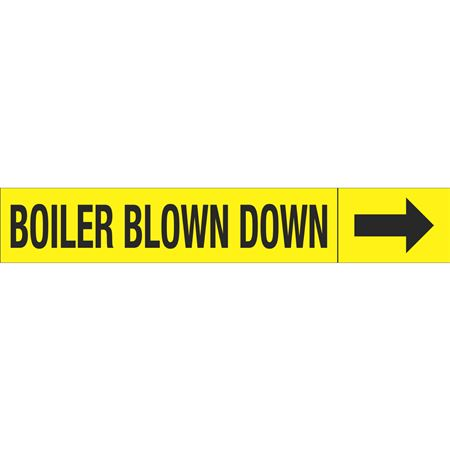 Roll Style Pipe Markers - BOILER BLOWN DOWN