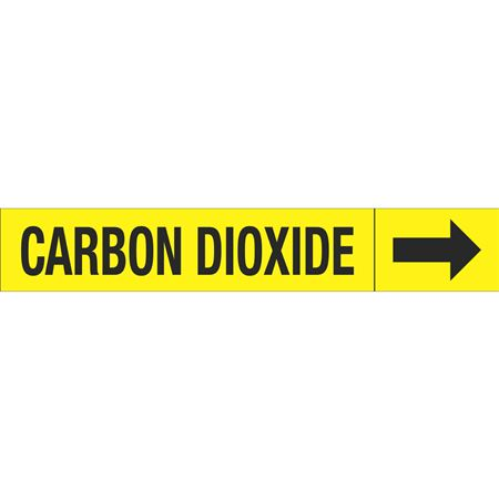 Roll Style Pipe Markers - CARBON DIOXIDE