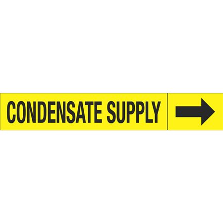 Roll Style Pipe Markers - CONDENSATE SUPPLY