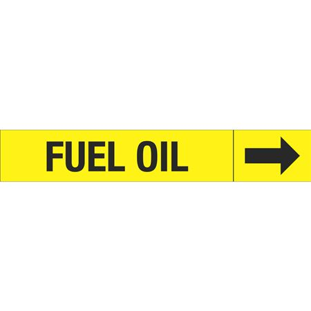 Roll Style Pipe Markers - FUEL OIL