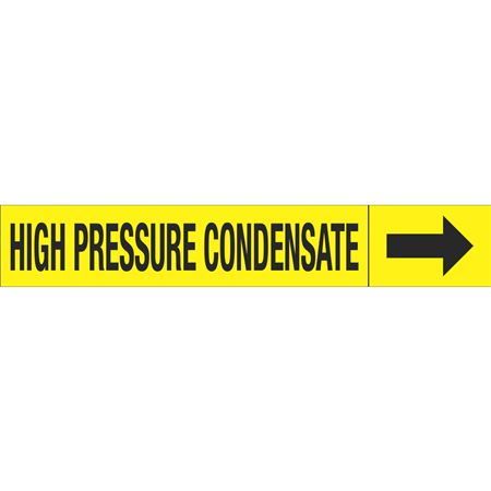 Roll Style Pipe Markers - HIGH PRESSURE CONDENSATE