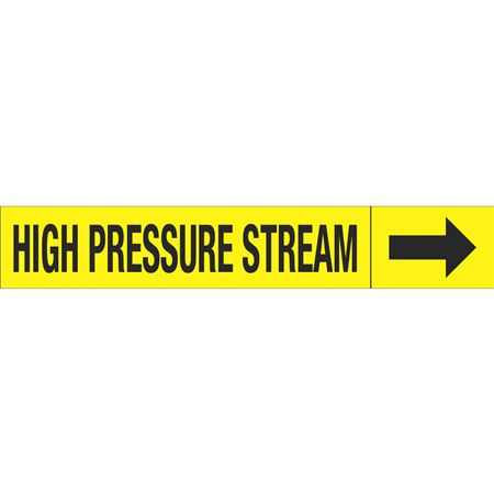 Roll Style Pipe Markers - HIGH PRESSURE STREAM