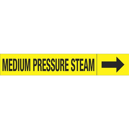 Roll Style Pipe Markers - MEDIUM PRESSURE STEAM