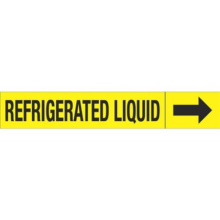 Roll Style Pipe Markers - REFRIGERATED LIQUID