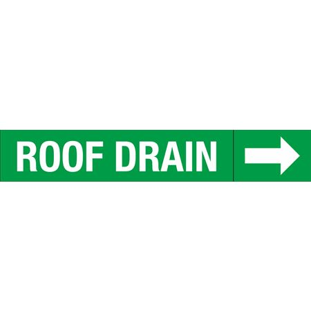 Roll Style Pipe Markers - ROOF DRAIN