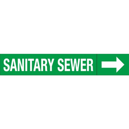 Roll Style Pipe Markers - SANITARY SEWER