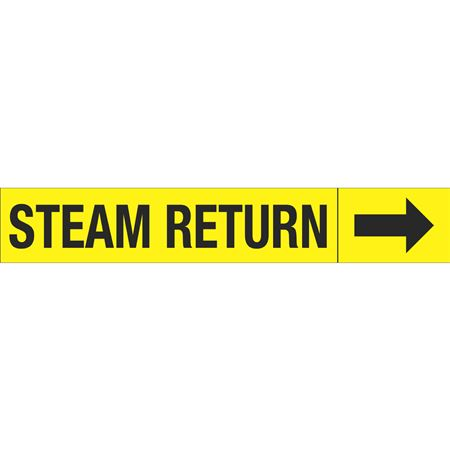 Roll Style Pipe Markers - STEAM RETURN