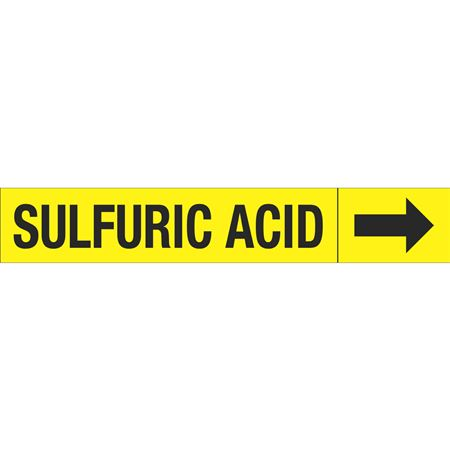Roll Style Pipe Markers - SULFURIC ACID