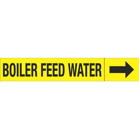 Roll Style Pipe Markers - BOILER FEED WATER