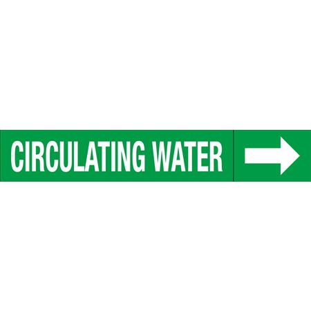 Roll Style Pipe Markers - CIRCULATING WATER