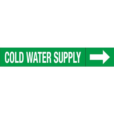 Roll Style Pipe Markers - COLD WATER SUPPLY