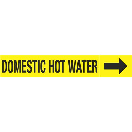 Roll Style Pipe Markers - DOMESTIC HOT WATER