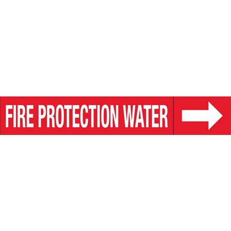 Roll Style Pipe Markers - FIRE PROTECTION WATER