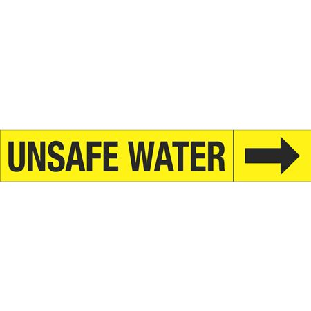 Roll Style Pipe Markers - UNSAFE WATER