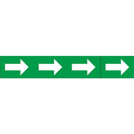 Roll Style Pipe Markers -ARROWS ONLY GREEN