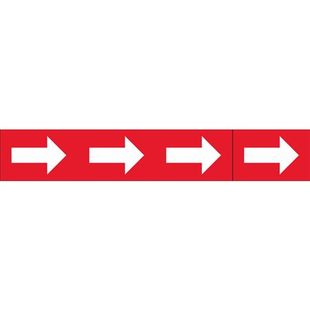 Roll Style Pipe Markers - ARROWS ONLY RED