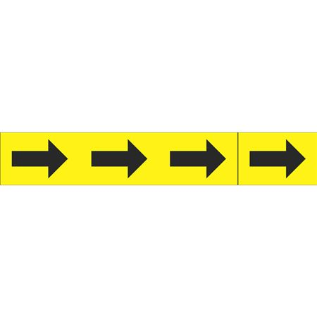 Roll Style Pipe Markers - ARROWS ONLY YELLOW