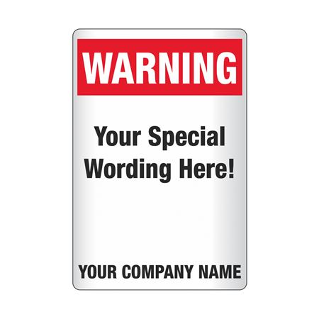 Custom Worded Reflective Security Signs - Warning 12 x 18
