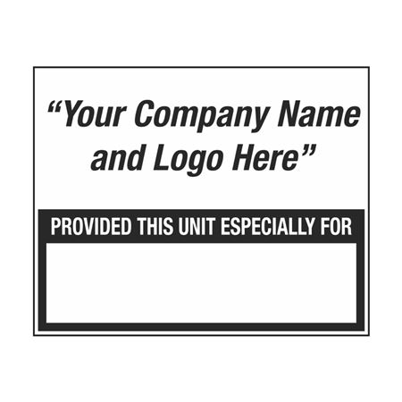 Custom Decal Provided This Unit Especially For - Small 5 x 4