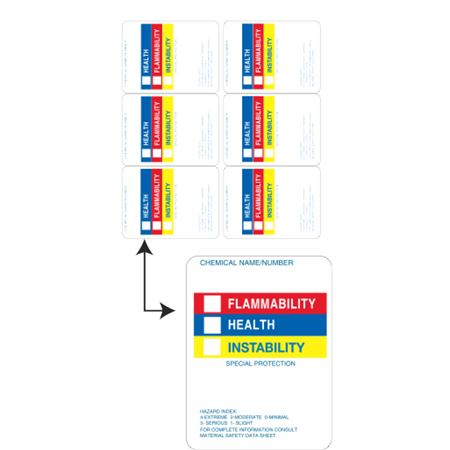 Laser Labels for Hazard Communications - Right To Know Style - 6 up 3 Inch x 4 Inch