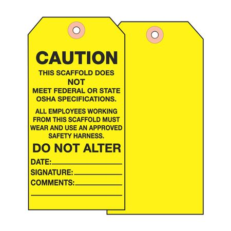 Scaffold Tags - Caution Do Not Alter - Cardstock 2.875 x 5.75