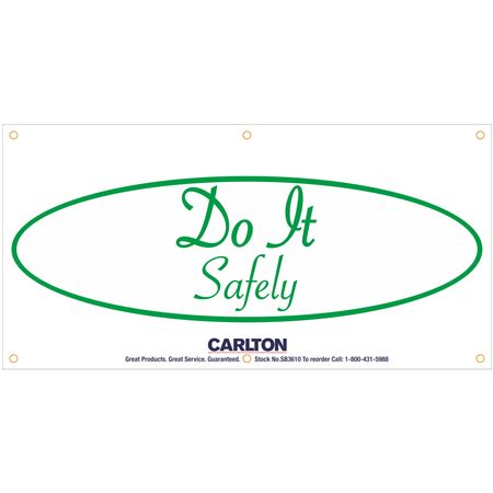 Do It Safely Banner 3'x6' w/Rope