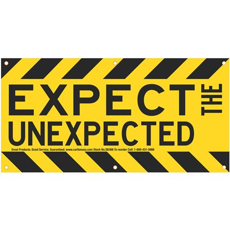 Expect the Unexpected (Graphic) Banner 3'x6' w/Rope