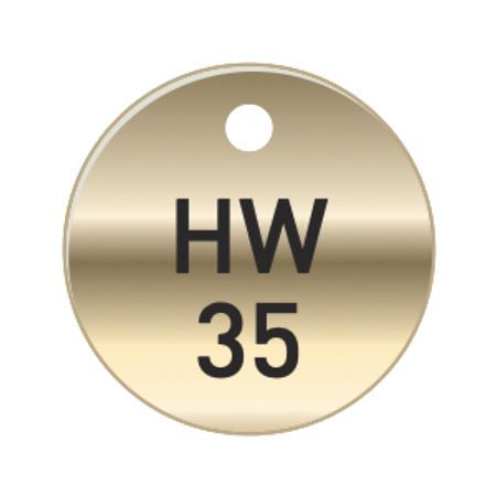 Brass Tags - HW Hot Water