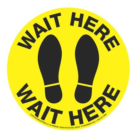 "Anti-Slip Floor Decals-Wait Here-11""diameter"