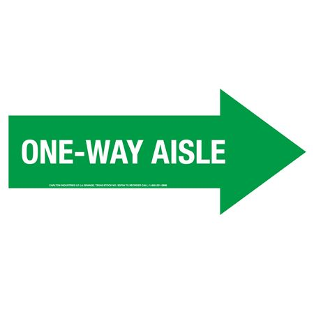 "Anti-Slip Floor Decals-One Way Aisle 5""X12"" (2/PK)"