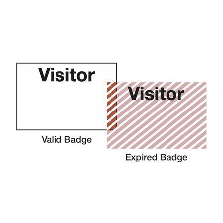 "Self-Expiring Visitor Badges - 2 1/8"" x 3 15/16"""