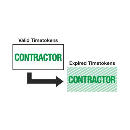 Self-Expiring Timetokens - Self-Expiring Tokens - Contractor 2 x 1
