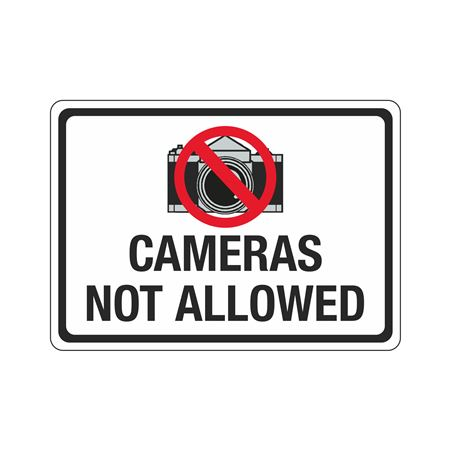 Cameras Not Allowed Sign