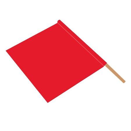 """Orange Nylon Safety Flag with Hardwood Shaft 18"""" Flag"""