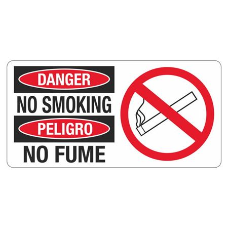 Danger No Smoking - 4 in. x 8 in.